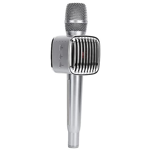 CCYLEZ DC 5V Micrófono de Mano inalámbrico Bluetooth 5.0, Micrófono de Sonido Envolvente estéreo Multifuncional, para teléfono Karaoke Altavoz en casa, Soporte iOS/Android.