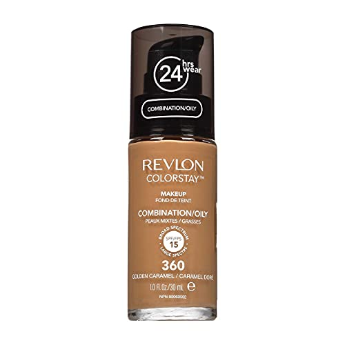Revlon ColorStay Makeup Foundation For Combination Oily Skin, Golden Caramel 360, SPF 15, 1 fl oz (Pack of 1)