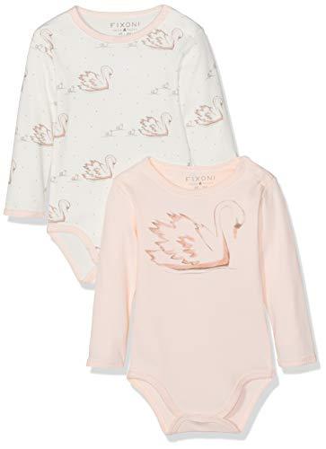 Fixoni Hush 2-pc Pack LS Body-Oekotex, Pink (Soft Rose 02-10), 56 cm Bébé Fille
