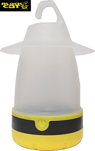 Black Cat Unisex Jugend Outdoor Lampe, Schwarz/gelb, 17 cm