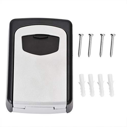 Caja de llaves de almacenamiento resistente a la intemperie con diseño de código de 4 dígitos Caja de bloqueo de llaves al aire libre, para la escuela, para el hogar, para el hotel