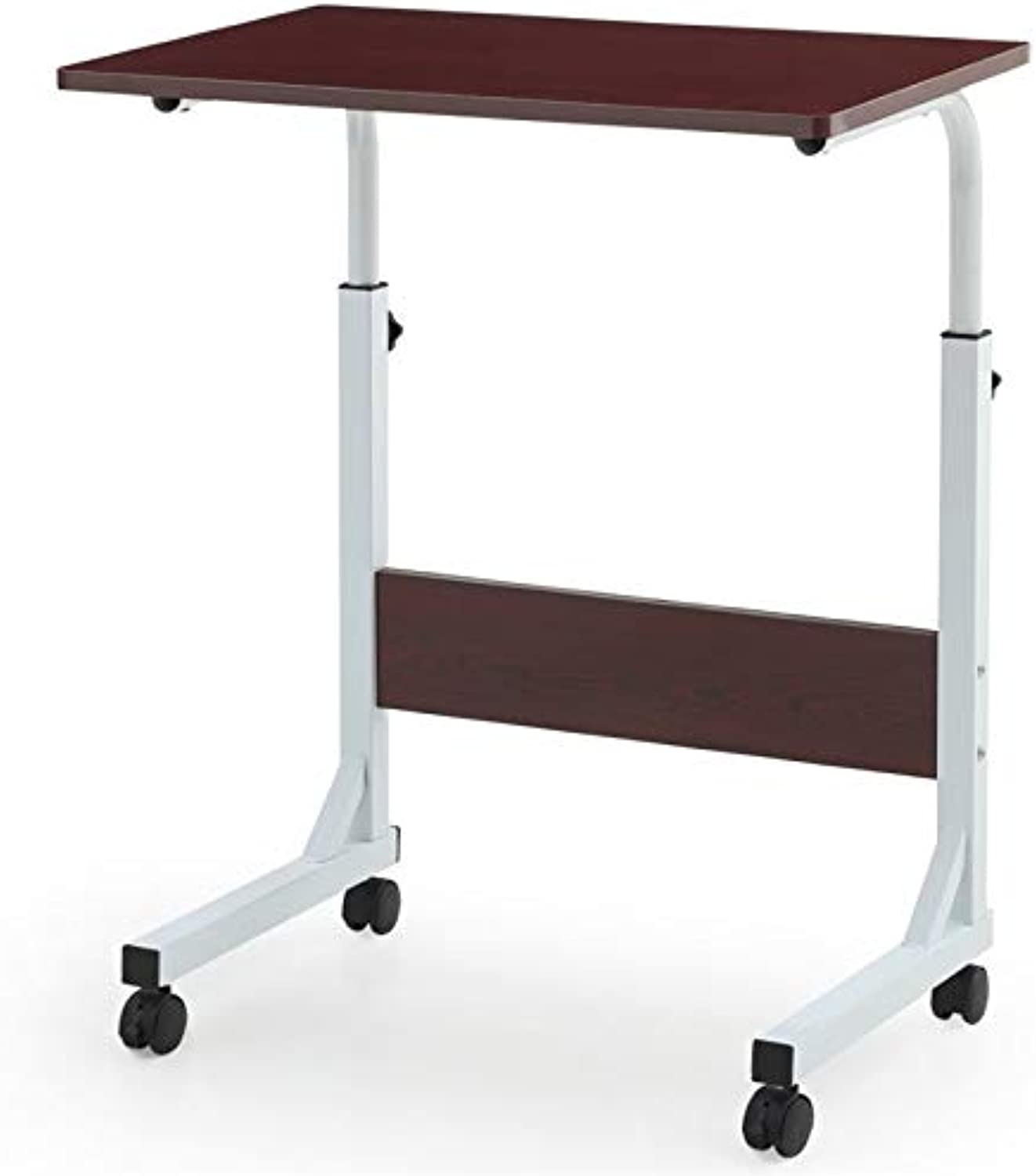 Pemberly Row Adjustable Height Laptop Desk in Mahogany