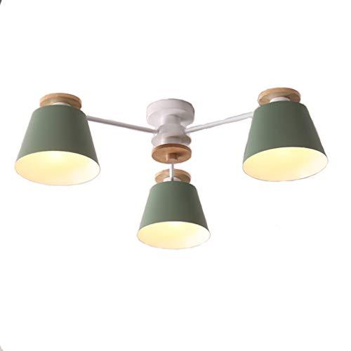STAGE LIGHTING Lustre en bois Salon Cuisine d'étude Petit appartement Lustre en bois (Couleur : D)