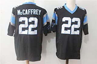Carolina Panthers #22 Christian Mccaffrey NFL Rugby Jersey T-Shirt Competition Training Breathable Quick-Drying Embroidery...