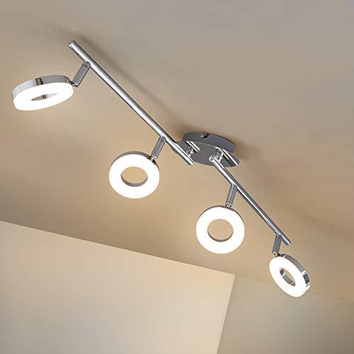 Briloner Leuchten 2873-048 LED Deckenleuchte, 4 W, Chrom