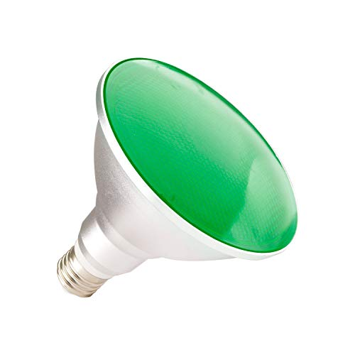 LEDKIA LIGHTING Bombilla LED E27 Casquillo Gordo PAR38 15W Waterproof IP65 Luz Verde Verde