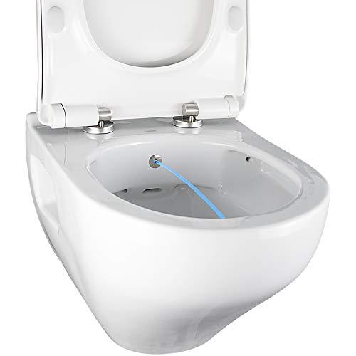 DuschWC Taharet ION OA5201N, spülrandlos, Edelstahldüse, antibakteriell, kalbabweisend, mit Slim WC-Sitz (abnehmbar, Absenkautomatik)