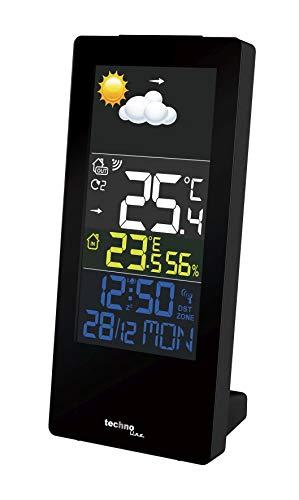 Technoline Wetterstation WS 6446 mit Farbdisplay, Innentemperatur, Außentemperatur, Luftfeuchte,Wettertendenzen, Temperaturtendenzen, hochkant