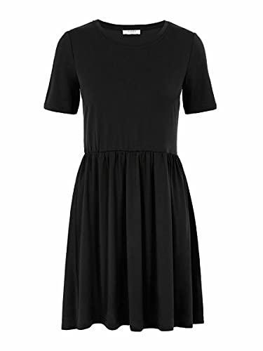 PIECES Damen Pckamala Dress Noos Bc L ssiges Kleid, Schwarz, M EU