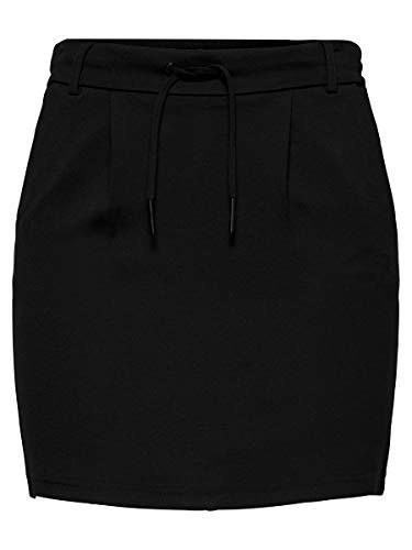 ONLY NOS Onlpoptrash Easy Skirt Pnt Noos Falda, Negro Black), 36 (Talla del fabricante: Small) para Mujer