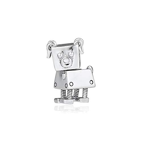 925 Sterling Silver Pandora Ladies Bracelet Jewelry Beads Fit S Bobby Bot Dog Charms Original For Making Diy Glamour Girl Gift