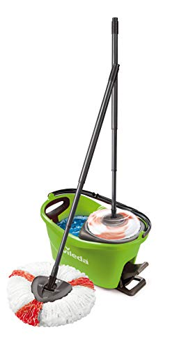 Vileda Turbo EasyWring & Clean Komplett Set, Wischmop und Eimer mit PowerSchleuder, grün