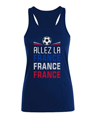 Camiseta sin Mangas para Mujer - Apoya la Selección de Francia en el Mundial de Rusia 2018! Medium Azul Oscuro
