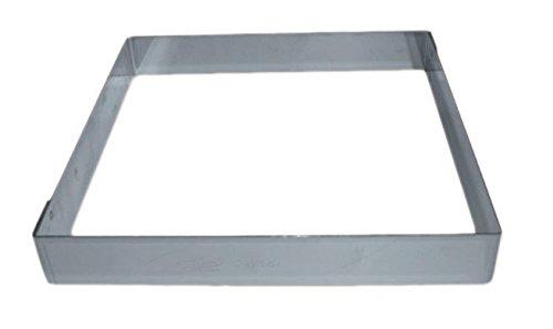 Carré inox pour entremet 18x18 cm, hauteur 3,5 cm