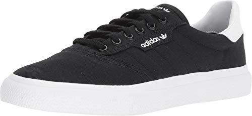 adidas Originals Men's 3MC Regular Fit Lifestyle Skate Inspired Sneakers Shoes, Black/Black/white, 7 M US