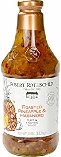 Robert Rothschild Farm Roasted Pineapple & Habanero Sauce (40oz) - Glaze & Finishing Sauce - Sweet & Spicy Sauce for Chicken, Fish, Pork, Shrimp - All Natural, Gluten Free and Certified Kosher