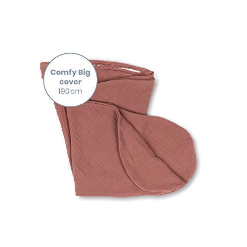 Doomoo Basics – Housse Tetra Brick pour Coussin de Grossesse Comfy Big – Housse de Coussin d'Allaitement en Coton Bio – Nouveau Style Aux Couleurs Naturels pour Votre Compagnon de Maternité