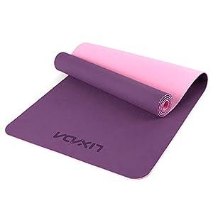 Lixada Esterilla de Yoga Antideslizante TPE Respetuoso del Medio Ambiente con Correa de Transporte y Bolsa de Almacenamiento 72x24IN