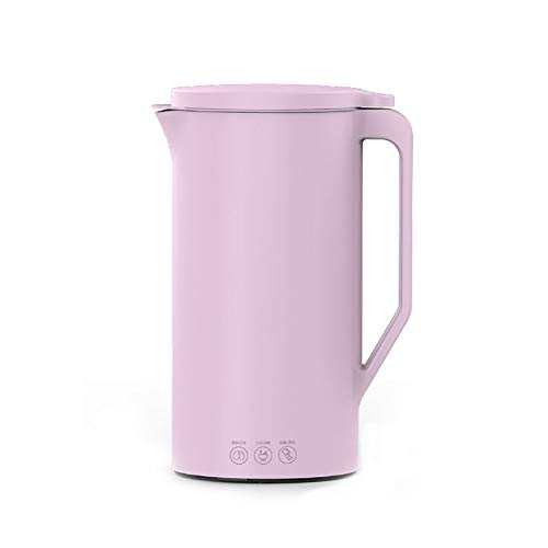BRAZT Soymilk Maker, Automatic Soybean Milk Machine, Magnetic Control Cover, Stainless Steel Liner Heating Juicer for Rice Paste Baby Food - 350Ml,Pink