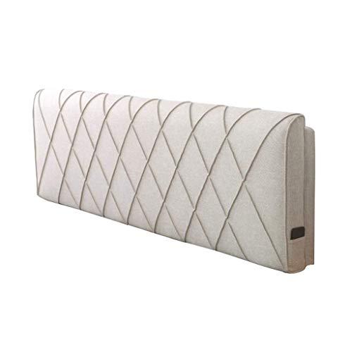 DX Soft Back Bed Pack, Tweepersoons hoofdeinde leeskussen, normaal formaat sprei, rugkussen, wasbaar op bed en 4-kleuren bed, 5 maten (kleur: bruin, maat: geen hoofdeinde 120 * 58cm)