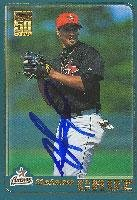 Nelson Cruz Houston Astros 2001 Topps 50 Years Autographed Card. This item comes with a certificate of authenticity from Autograph-Sports. Autographed - MLB Autographed Baseball Cards