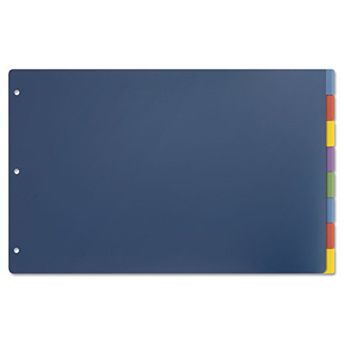 Cardinal 84251 Tabloid-Size Poly Index Divider, 8-Tab, Multicolor Colors