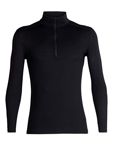icebreaker Herren Funktionsshirt 200 Oasis LS Half Zip, Black, L, 104367001L
