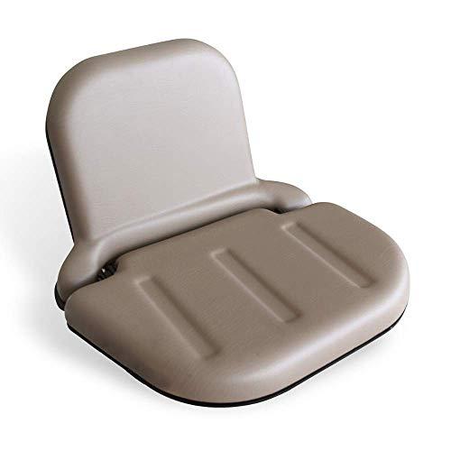KLARA SEATS PVC Beifahrersitz für Schlepper und Traktoren, inkl. 2-Punkt-Automatikgurt, klappbar, braun
