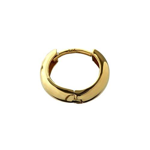 NKlaus Einzel Klapp Creolen 333er gelb Gold rund 12,5mm dicke 3,1mm 6472