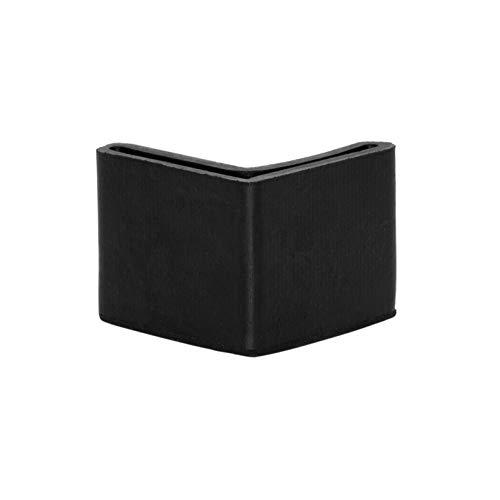 Flyshop Chair Leg Caps, Rubber Protective Caps, Durable, Non-scratch, Angle 30 * 30mm, 8pcs, Black