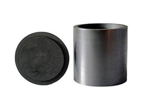 OTOOLWORLD Smelting Lab Graphite Crucible with Cover Lab Supply 60MM X 60MM
