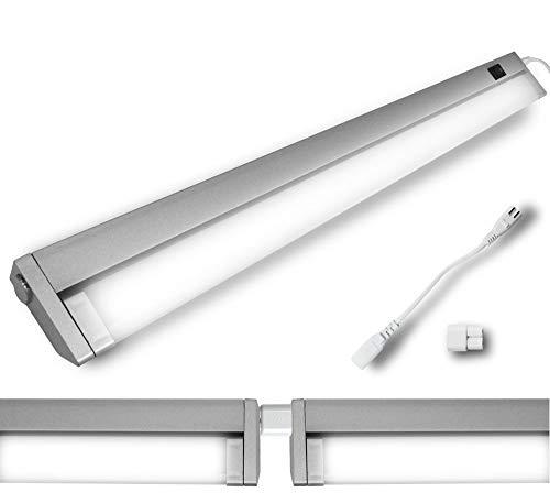 LED Schwenk Kopf Unterbau Leuchte Eck Wand Lichtleiste Spiegel Küche Schrank 7 Watt 34cm Neutralweiß Schwenkbar Lichtband möglich