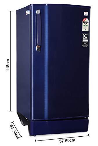 Godrej 190 L 3 Star Inverter Direct-Cool Single Door Refrigerator with Jumbo Vegetable Tray (RD 1903 EWHI 33 STL BL, Steel Blue, Inverter Compressor) 3