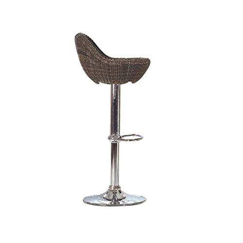 WG stoel- barkruk metaal + rotan weven 360 & graden; rotatie (Can worden verhoogd en verlaagd) kassier kruk koffiebar kruk
