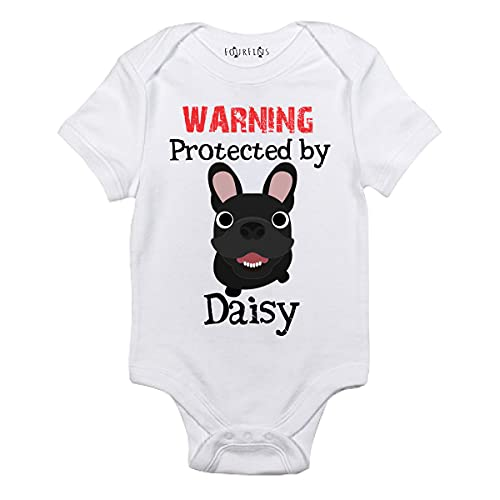 Custom dog sibling baby clothes My big sister is a French bulldog baby outfit (newborn)