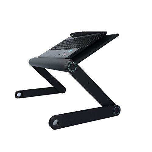 MiaoMiao Notebook stands Ergonomic folding laptop table, Adjustable laptop stand, Laptop desk, Bed tray cooling cushion, Black (color: with fan)