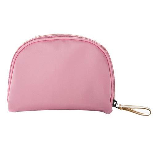 Capacité petit Cosmétiques Make Up Bag protable Voyage Trousse de maquillage Porte-monnaie Pouch Sac de maquillage Zipper Esthéticien Sacs d'embrayage,Rose