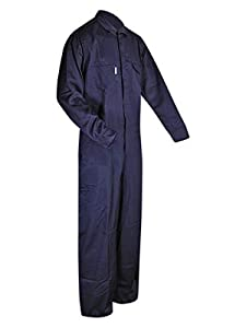 Magid Dual-Hazard 7 oz. FR 100% Cotton Coveralls (1 Coverall), XL, NAVY