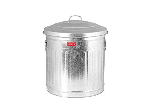 Home vuilnisbak met deksel, zink, 29 liter
