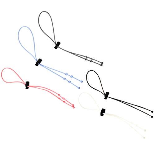 HEALLILY 5 Piezas de Correas Ajustables para Gafas Sujetadores Antideslizantes Cordón para Gafas Cadenas para Gafas de Sol Deportivas Correa para El Cuello Extensor de Cadena 5 Colores