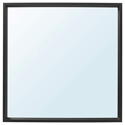 NISSEDAL spegel 65 x 65 cm svart