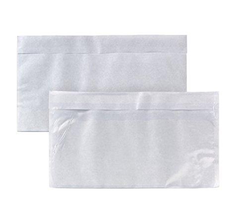 Begleitpapiertasche DIN Lang (110x220mm) haftklebend Polyethylen 50my 1000 Stück