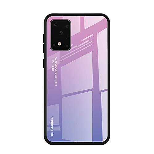 Compatible con Samsung Galaxy S11E, carcasa rígida + cristal templado, carcasa trasera resistente a los arañazos, marco de silicona, ultrafina, con inclinación rosa Talla única