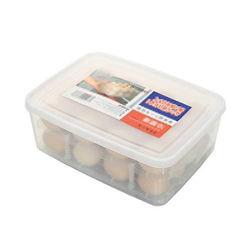 Huevera portátil Cartón de huevos de almacenamiento extraíble con divisor, los titulares de huevo de plástico, se ajusta a 32 huevos, de doble capa, apilables bandejas de huevos, por refrigerador / en