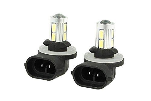 Carall - Lámpara LED - Casquillo H27 - 881 PGJ13 - 12 V - 10W de potencia - Sin polaridad - Luz súper blanca - Temperatura de color 6000Kº - Modelo n. LS8810