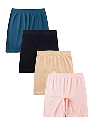 Hiking Gril Women's Seamless Smooth Slip Shorts Skinny Britches Short HF Blue Pink XL