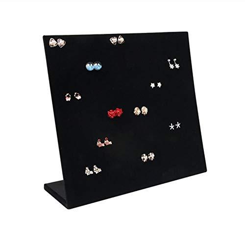 30 pares de pendientes de terciopelo en forma de L para exhibición de pendientes y pendientes, estante para almacenamiento de joyas, D, grande