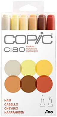 Copic Marker I6-Skin Ciao Markers, Skin, 6-Pack