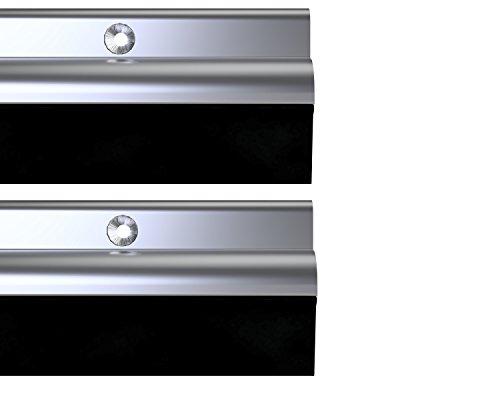 Stormguard 03am0050914a BDS parte inferior de la puerta burlete para puertas, aluminio, 914mm, set de 2piezas