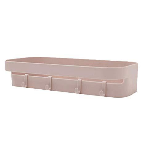 TJLSS Adhesive Dusche Caddy Basket Badezimmer Regal Organisator der Wand befestigte Gewürze Storage Rack kein Bohren Dusche Regal Bad...
